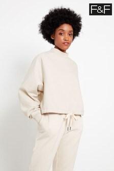 F&F Cream Bubble Hem Sweater