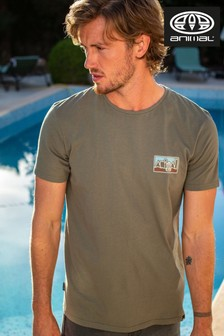 Animal Dusty Olive Green Heritage Graphic T-Shirt