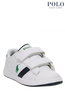 Ralph Lauren White Oakview Trainers