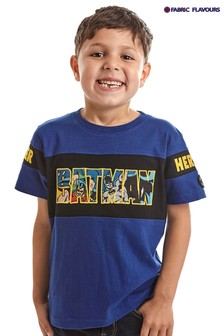 تي شيرت شعار DC Batman® Super Heroes أزرق من Fabric Flavours