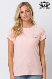 Розовая футболка спринтомAnimal Sportz