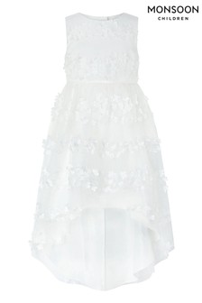 Monsoon Cream Pretty Petal Hi Low Dress