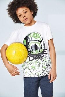 Футболка с эффектом брызг (3-16 лет)
