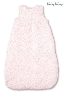 Kissy Kissy Pink Heart Print Sleep Bag