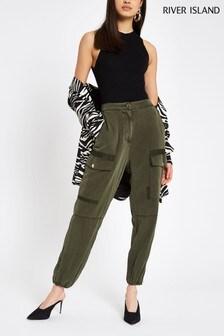 River Island Khaki Hailey Casual Trousers
