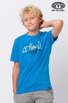 Modré grafické tričko Animal