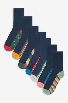 7 Pack Cotton Rich Socks (Older)