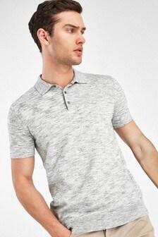 Tricou cu mânecă scurtă Polo din bumbac melanj