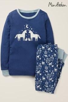 Темно-синий уютный пижамный комплект с брюками Boden