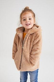 Куртка из искусственного меха с отделкой в виде животного (12 мес. - 7 лет)