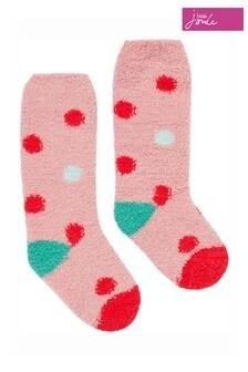 Joules Pink Fluffy Socks