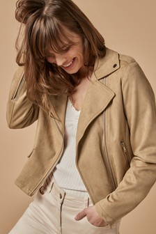 Suede Effect Jacket