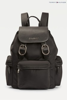 Tommy Hilfiger Black Recycled Nylon Backpack