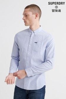 Superdry - Klassiek Oxford-universiteitsoverhemd met lange mouwen