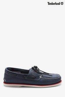 Timberland® Navy Classic 2 Eye Boat Shoes