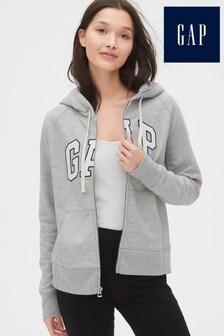 Sweat à capuche Gap zippé gris avec logo