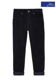 Pantalon en velours côtelé Joules Jett bleu