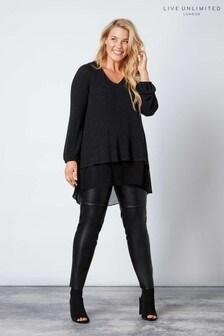 Live Unlimited Black PU Trousers