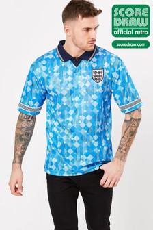 Score Draw イングランド 1990 ワールドカップ ファイナル レトロ ジャージー Tシャツ