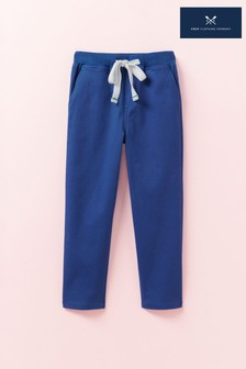 Pantalon chino Crew Clothing bleu slim avec taille en maille