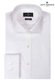 Jeff Banks White Cutaway Collar Single Cuff Tailored Shirt