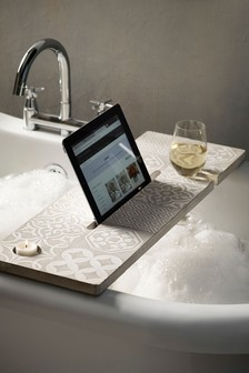 Tile Print Bath Tray