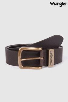 Wrangler Metal Loop Leather Belt