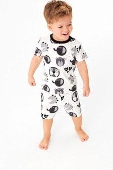 Пижама с шортами и принтом животных (9 мес. - 8 лет)