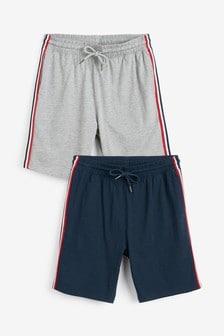 Lot de deux shorts en jersey à liserés