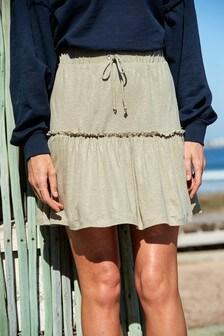 Расклешенная юбка с оборкой
