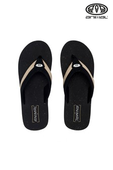 Animal Black Huxley Flip Flops