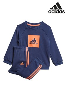 adidas Infant Navy Crew and Jogger Set