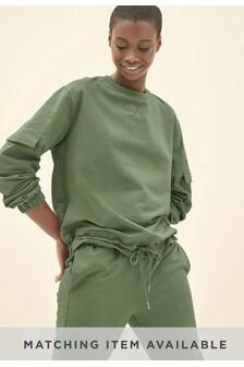 Sweatshirt mit Taschendetail