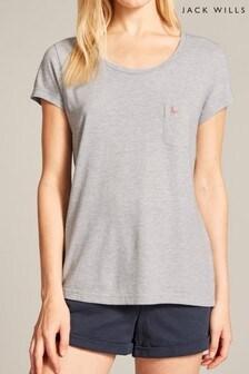 Jack Wills Grey Marl Fullford Pocket T-Shirt