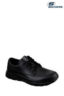 Черные кроссовки с противоскользящей подошвой Skechers® Black Flex Advantage Fourche