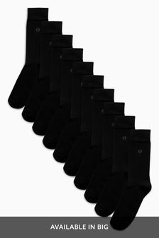 Cushioned Sole Socks Ten Pack