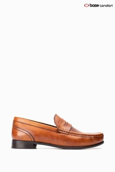 Base London® Tan Cassio Washed Slip-On Shoes