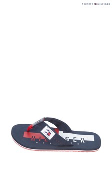 Tommy Hilfiger Blue Hilfiger Badge Beach Sandals