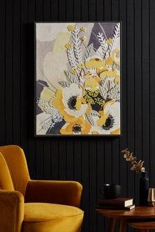 لوحة قماشية فلين زهور