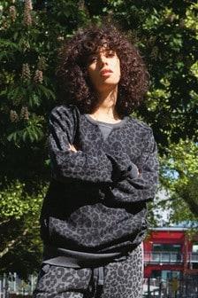 Langes Sweatshirt mit Waschung