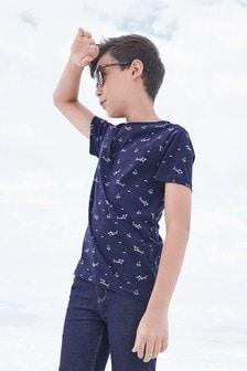 Tričko s celoplošnou potlačou žralokov (3 – 16 rok.)