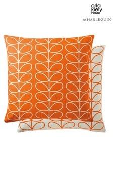 Orla Kiely Orange Linear Stem Cushion
