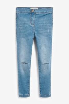 高腰窄管牛仔褲 (3-16歲)