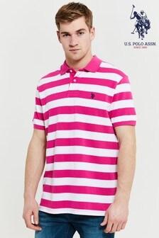 חולצת פולו עם פסים של U.S. Polo Assn.
