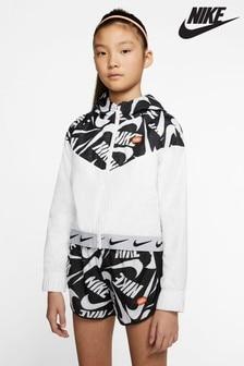 Nike White Marker Mash Jacket