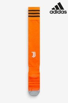 Оранжевые носки резервной игровой формы ФК «Ювентус» adidas 20/21