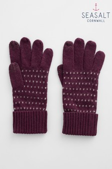 Seasalt Purple Very Clever Gloves