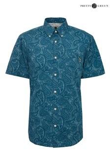 Pretty Green Linear Paisley Short Sleeve Shirt