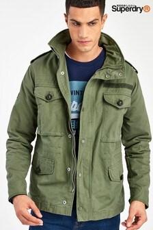 Zelena športna jakna Superdry