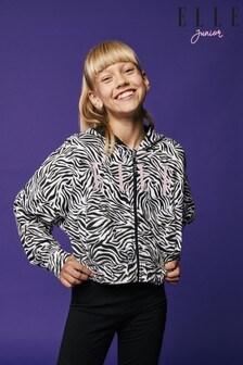 Elle Junior Zebra Zip Through Sweatshirt